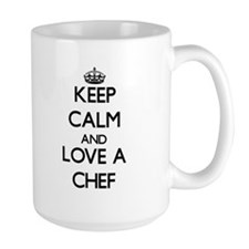 Keep Calm and Love a Chef Mugs