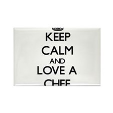 Keep Calm and Love a Chef Magnets