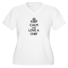 Keep Calm and Love a Chef Plus Size T-Shirt