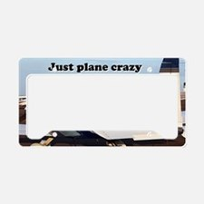 Just plane crazy: aircraft at License Plate Holder