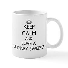 Keep Calm and Love a Chimney Sweeper Mugs