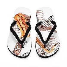 Abstract Saxophone Flip Flops