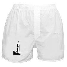 surfer surf sea wave sport beach girl Boxer Shorts