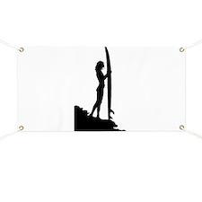 surfer surf sea wave sport beach girl Banner