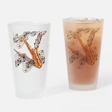 Abstract Saxophone Drinking Glass