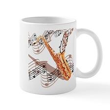 Abstract Saxophone Small Mug