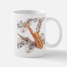 Abstract Saxophone Small Small Mug