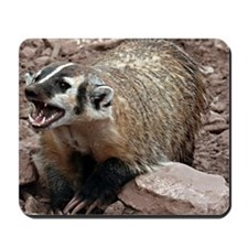 Snarling Fighting Badger Mousepad