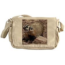 Snarling Fighting Badger Messenger Bag
