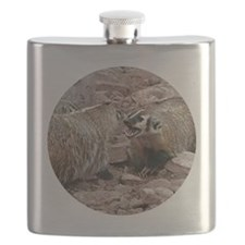 Snarling and Fierce Badgers Flask