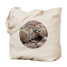 Snarling and Fierce Badgers Tote Bag