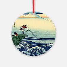 Kajikazawa by Hokusai Round Ornament