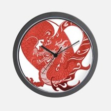 Speak LOVE out loud dragon heart Wall Clock