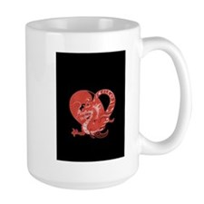 Speak LOVE out loud dragon and heart 1 Mugs