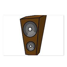 Brown Music Speaker Postcards (Package of 8)