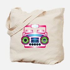 Pink Music Boombox Tote Bag