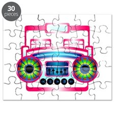 Pink Music Boombox Puzzle