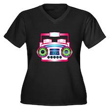 Pink Music Boombox Plus Size T-Shirt