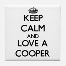 Keep Calm and Love a Cooper Tile Coaster