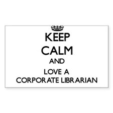 Keep Calm and Love a Corporate Librarian Decal