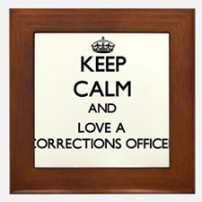 Keep Calm and Love a Corrections Officer Framed Ti