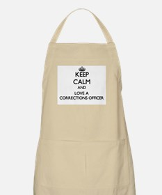 Keep Calm and Love a Corrections Officer Apron