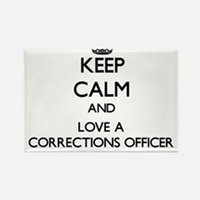 Keep Calm and Love a Corrections Officer Magnets