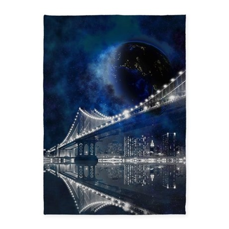 New new york city 5 39 x7 39 area rug by gatterwe for Area rugs new york