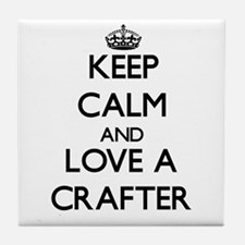 Keep Calm and Love a Crafter Tile Coaster