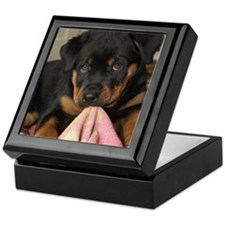 Rottweiller Puppy Keepsake Box