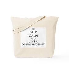 Keep Calm and Love a Dental Hygienist Tote Bag