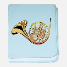 French Horn baby blanket