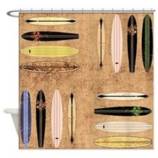 Vintage Surfboards Shower Curtain