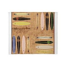 Vintage Surfboards Throw Blanket