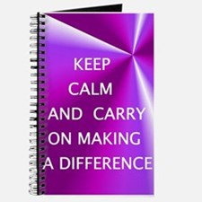 Keepm calm and carry on making a difference Journa