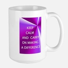 Keepm calm and carry on making a difference Mugs