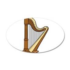 Musical Harp Wall Decal