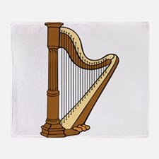 Musical Harp Throw Blanket
