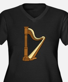 Musical Harp Plus Size T-Shirt