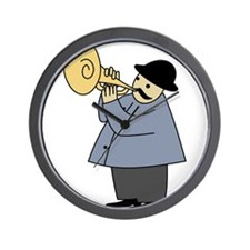 Trumpet Player Wall Clock