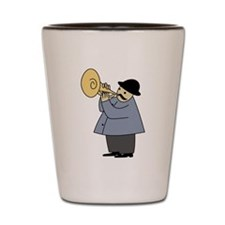 Trumpet Player Shot Glass