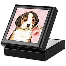 Beagle Rose Keepsake Box