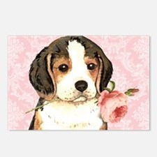 Beagle Rose Postcards (Package of 8)