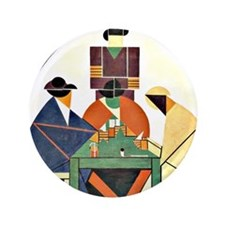 "Theo van Doesburg - The Cardplayers 3.5"" Button"