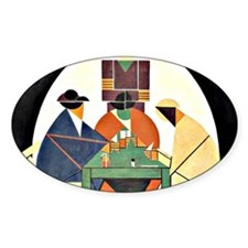 Theo van Doesburg - The Cardplayers Decal