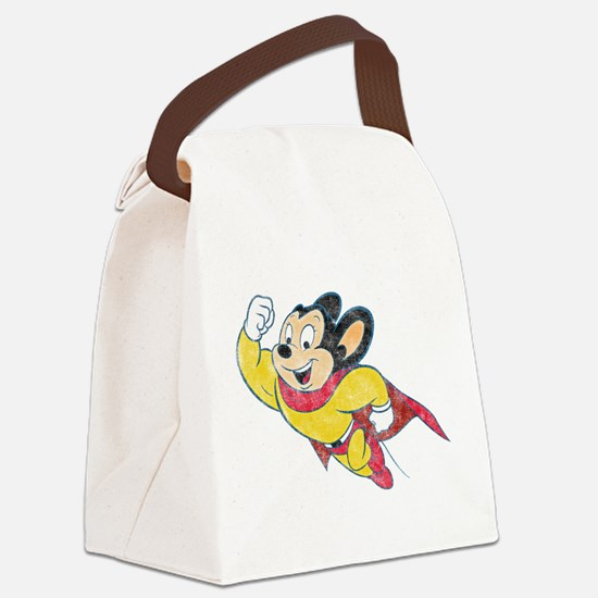 Vintage Mighty Mouse Canvas Lunch Bag