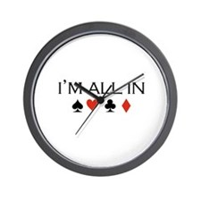 I'm all in /poker Wall Clock