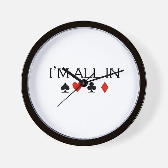 I'm all in /poker Wall Clock