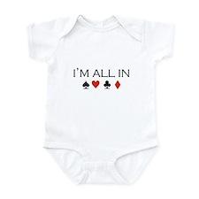 I'm all in /poker Infant Bodysuit