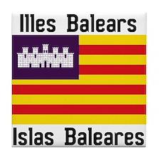 Balearic Islands Tile Coaster
